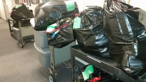 Just a few of the items loaded up for the adopted families!