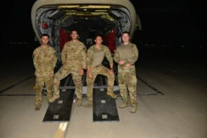 From right to left: SGT Cameron Powell, SGT George Esquivel,W5 Joseph Rosamond, CW2 Brady Hlebain